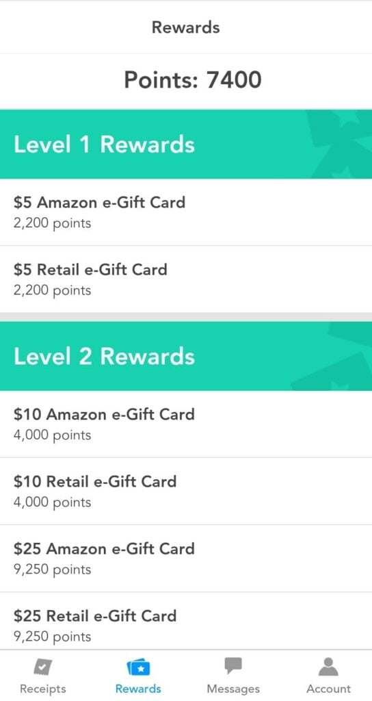 ReceiptPal App rewards